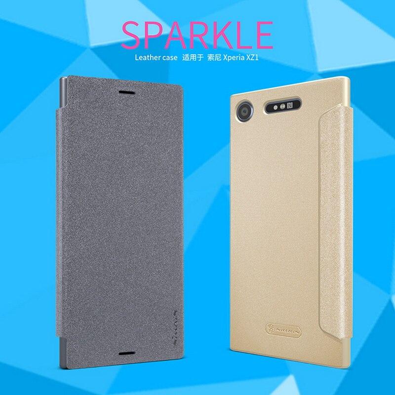 Für Sony Xperia XZ1 G8341 G8342 Ledertasche NILLKIN Fashion Business Back Cover Shell Handy Schutzhülle