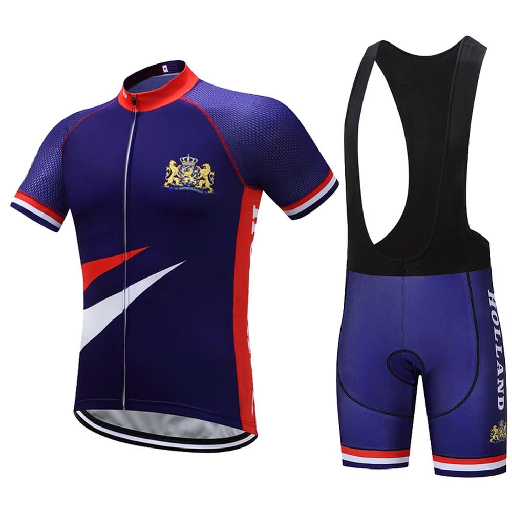 2017 New Holland ciclismo Jersey azul ciclismo ropa Mtb Jerseys bicicleta ropa transpirable bicicleta camisa 3D Pad Shorts