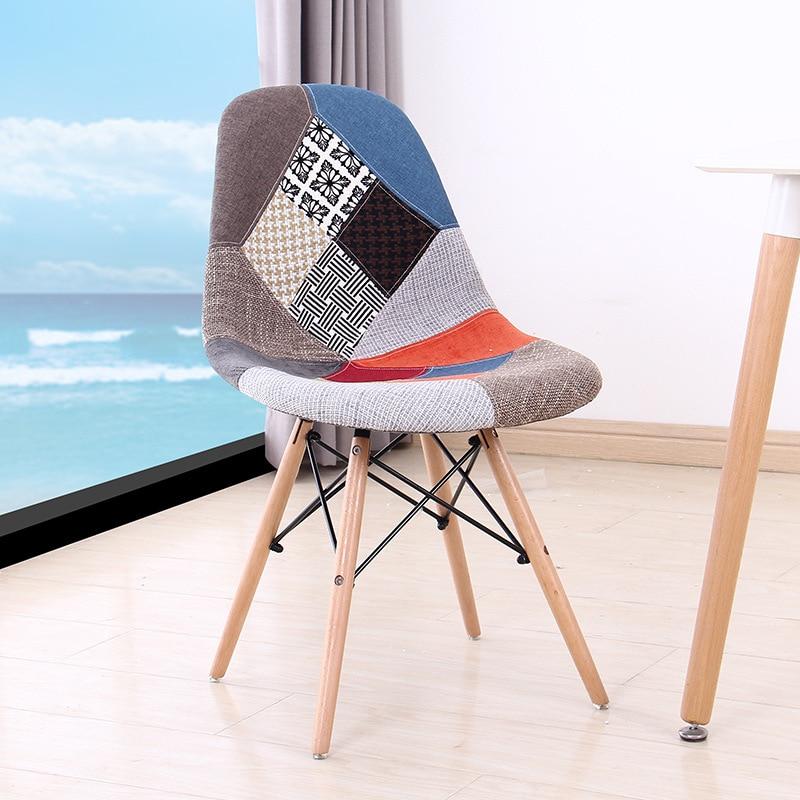 Скандинавский обеденный стул из массива дерева простой креативный дизайнерский
