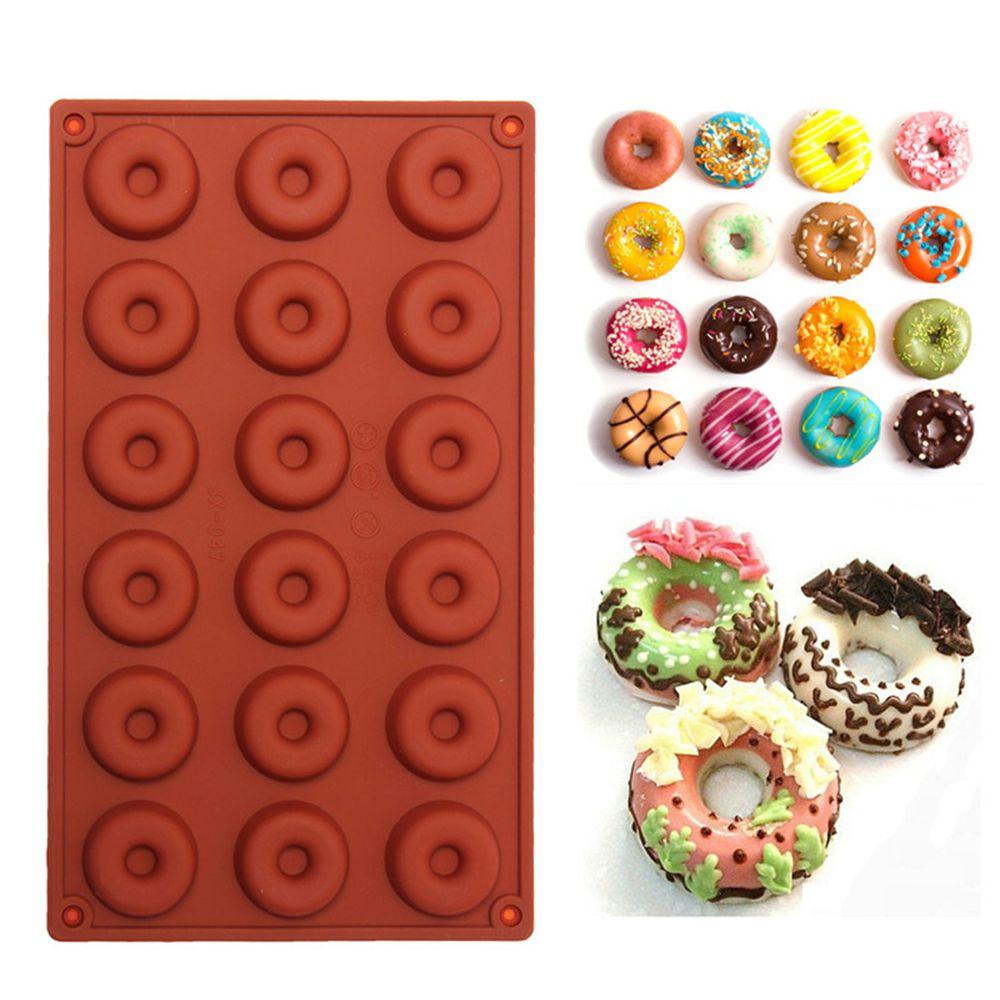 18-Cavity Donut Doughnut Backform Kuchen Schokolade Süßigkeiten Seife Silikonform