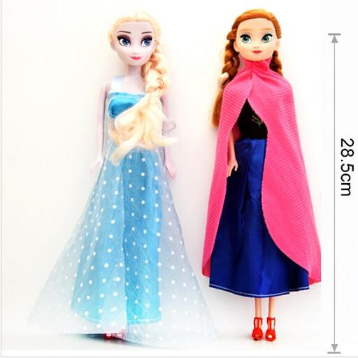 Hot sale Princess Elsa Anna Doll Snow Queen Children Girls Toys Birthday Christmas Gifts For Kids Sharon Dolls
