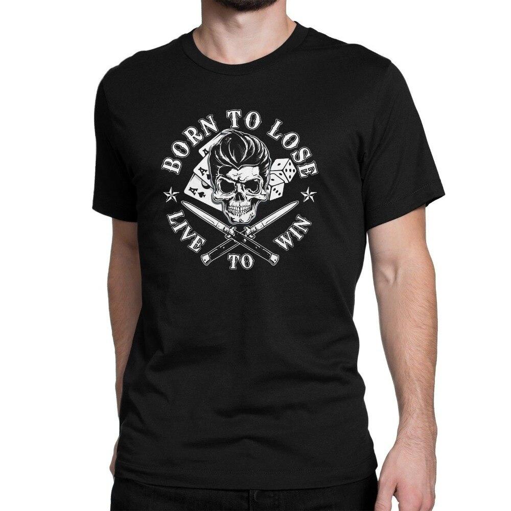 ¡Novedad de 2019! Camiseta a la moda de Stranger Things para hombres nacidos para perder la vida para ganar camiseta Rockabilly para hombres