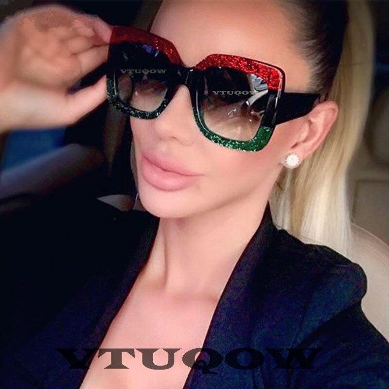 2019 Luxury brand women's sunglasses Fashion Vintage Retro Square Sunglasses Lady Female Sun Glasses For Women ray bann lunette