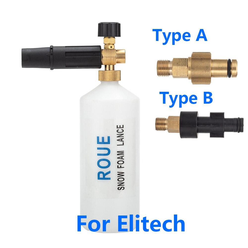 Rociador de espuma para nieve/generador de espuma/pistola de espuma/jabón de alta presión para lavadora a presión Elitech
