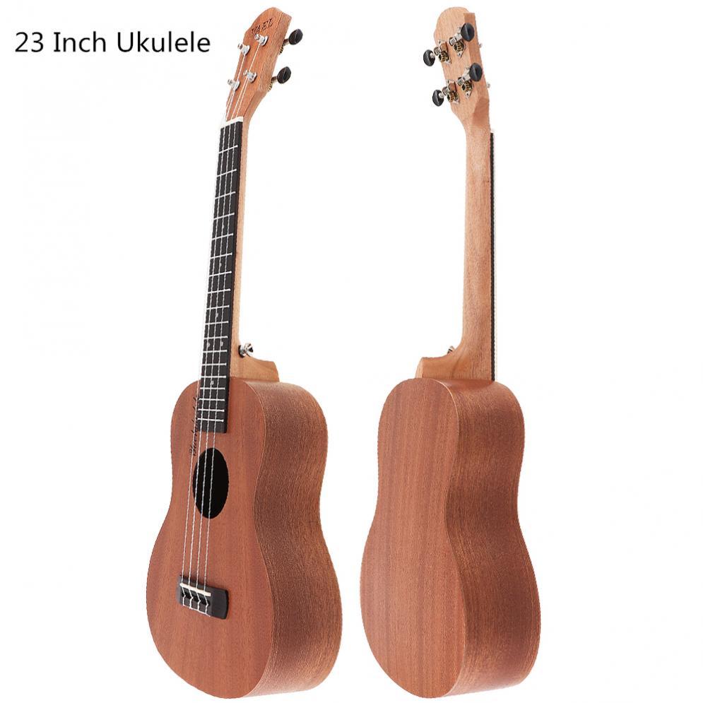 23 pulgadas concierto Ukulele Sapele de madera 18 te preocupes Hawaii cuatro cuerdas de guitarra Ukelele de cuerda instrumento Musical