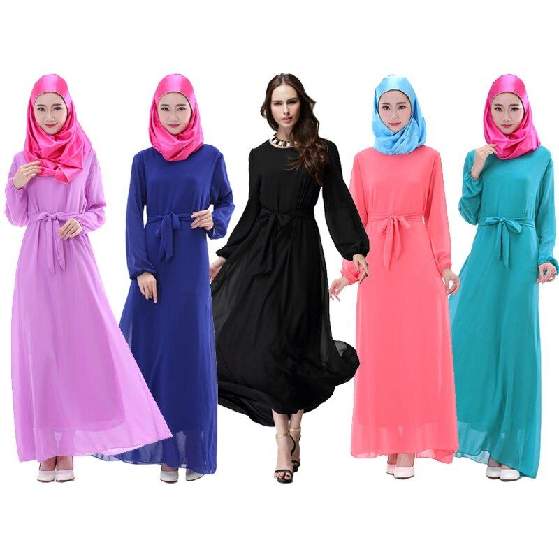 Vestido largo de dama turco para mujer musulmana de 5 colores, ropa islámica para mujer, Abaya musulmana para mujer, túnicas de niña musulmana Abaya
