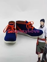 blue color k misaki yata cosplay shoes boots hand made custom made