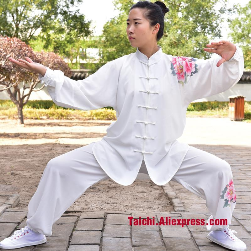 Deportes nueva tai chi traje de gama alta de impresión femenina uniformes tai chi Wushu Kungfu Ropa-Ropa