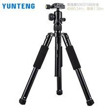 Yunteng 190 trípode de cámara SLR Micro fotografía individual trípode portátil teléfono móvil soporte para selfie en vivo