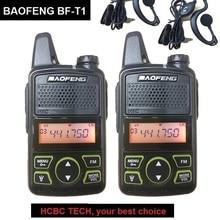 1/2/3/4 pièces BAOFENG BF-T1 talkie-walkie UHF Mini enfants CB Radio émetteur Baofeng T1 tranceiver jambon radioamateur BF T1