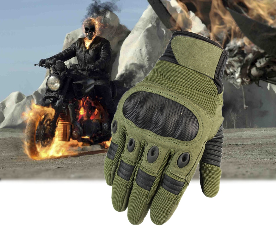 Touch Screen Motorcycle Hard Knuckle Full Finger Gloves for Riding Motocross Protective Gear Outdoor Sports Motorbike Racing Mtb enlarge