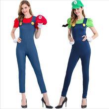Super Mario Kostuum Vrouwen Luigi Kostuum Kleding Sexy Loodgieter Kostuum Mario Bros Fantasia Super Mario Bros Kostuums Voor Volwassenen