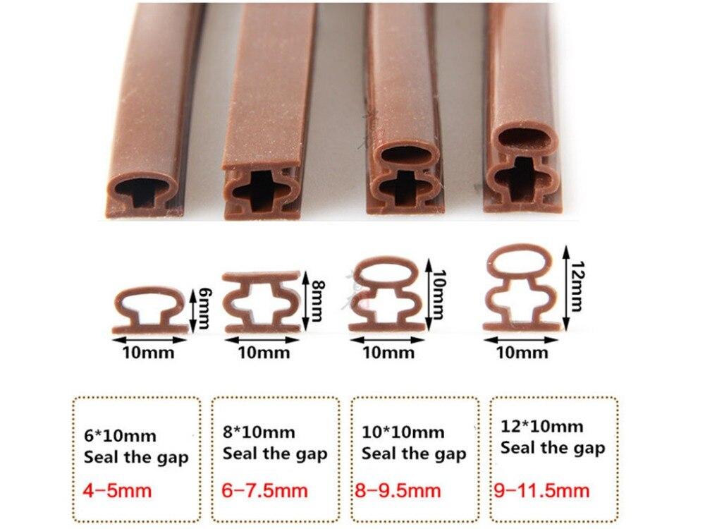 10 мм * 6 м самоклеящиеся D-образные двери и для окон, пенопластовая уплотнительная лента, звукоизоляция, предотвращение столкновений, резинов...