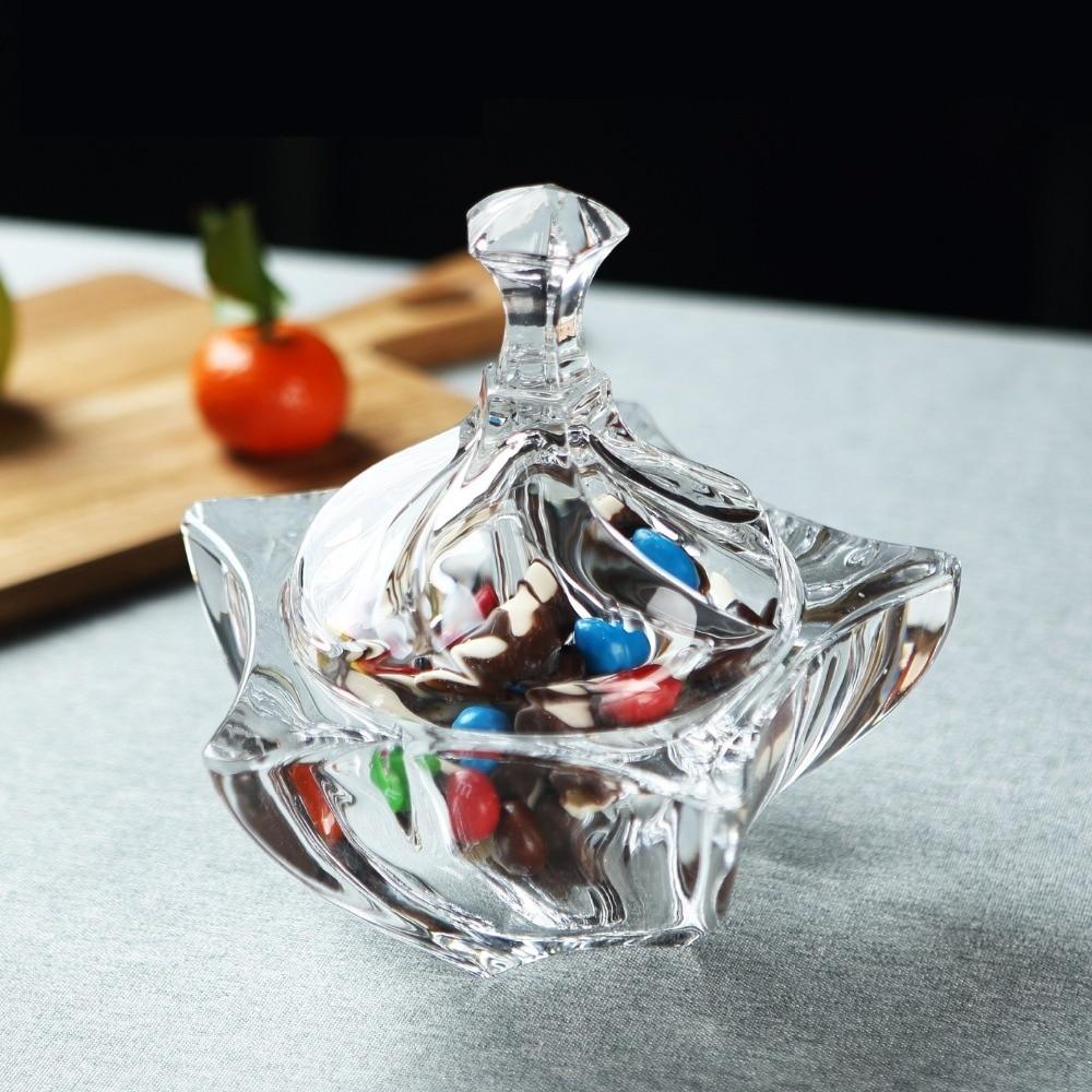 6 Морская звезда Хрустальное стекло ювелирный Органайзер декоративная коробка для конфет сахарная банка подарочная посуда ремесло морски...