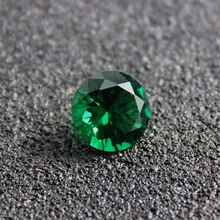 Brasilien runde form erstellt smaragd edelstein perlen schmuck diy machen faceted helle cut edelsteine perlen Mai birthstone AAAAA