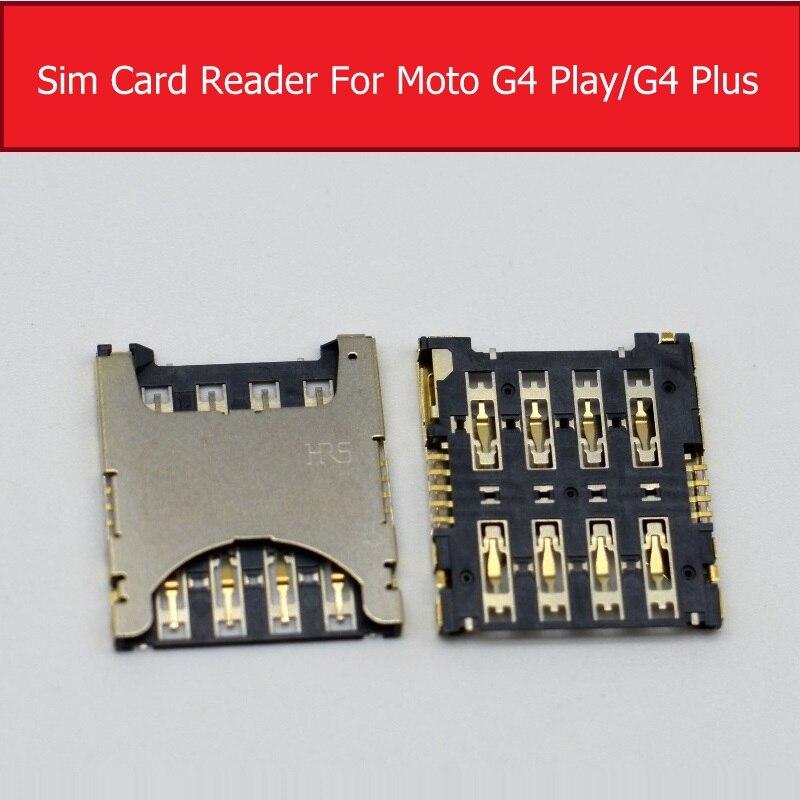 Bandeja de tarjeta Sim para Motorola MOTO G4 jugar más XT1644 XT1607 XT1609 SIM ranura para tarjeta para Moto G4 XT1622 XT1625 Sim soporte de lector de tarjeta