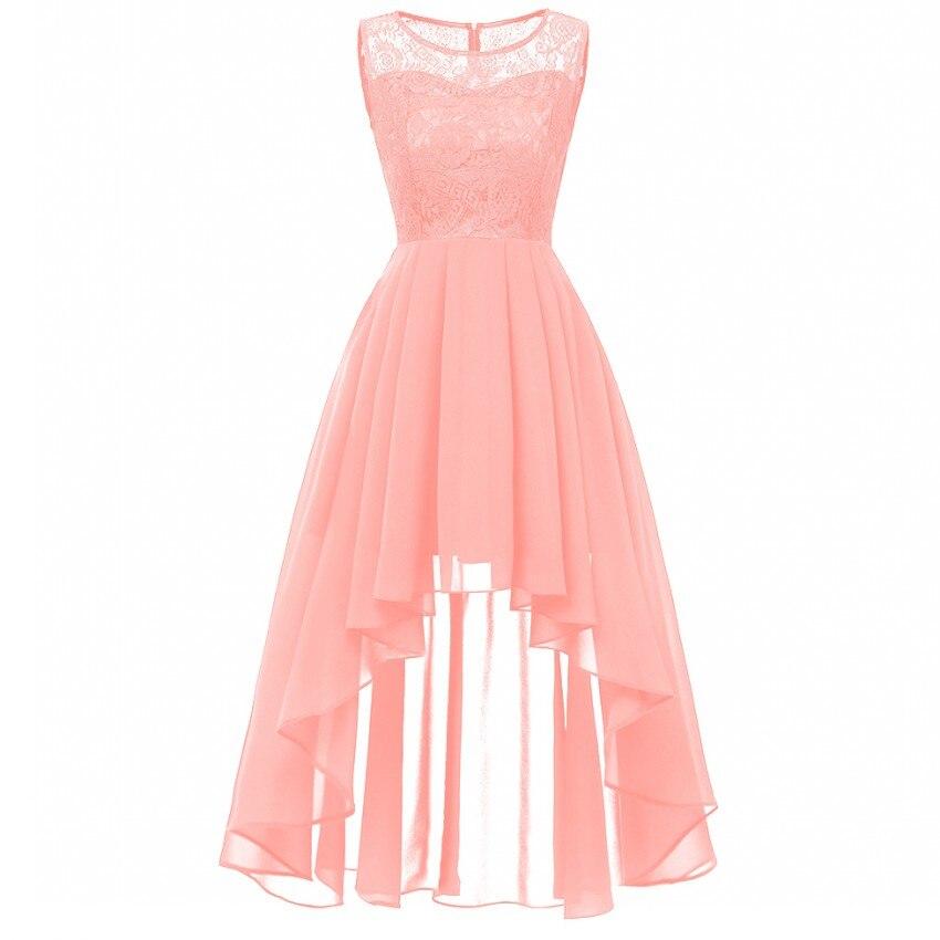 Christmas Vintage Lace Dresses Sleeveless Sexy Pink Party A-Line Chiffon Dresses Elegant Women Long Maxi Vestidos Robe Femme