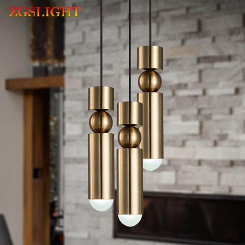 Pendant Lamp Gold Long Tube led light Nordic modern pendant lights Kitchen Dining Room Bar Counter Decoration Home Lighting
