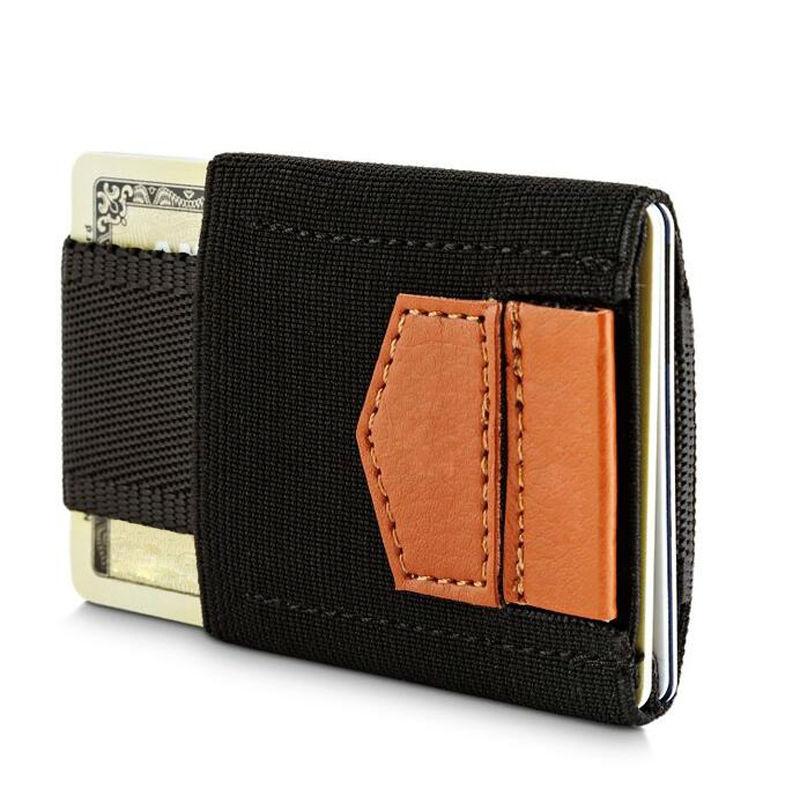 Minimalist Super Slim Wallet Card Holder Credit Card Case Coins Purse for Men Women Pocket Magic Elastic Men Wallets