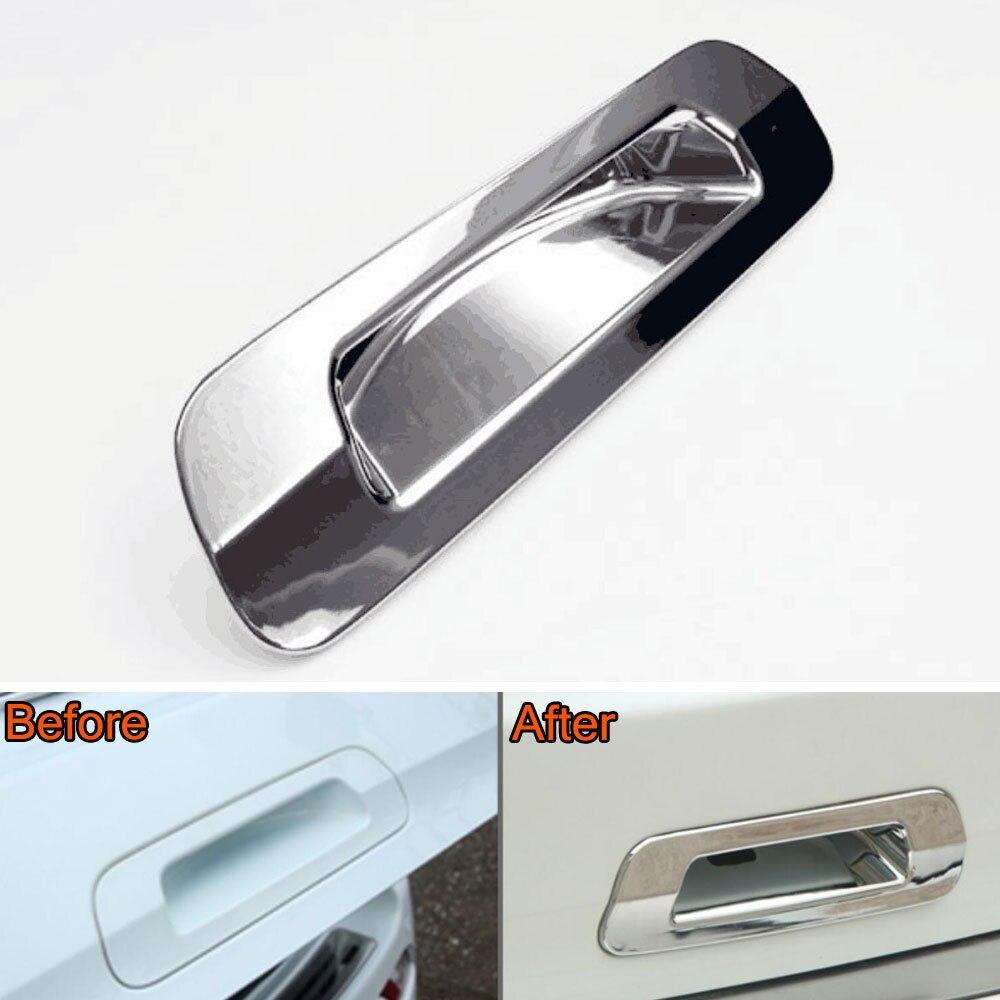 De estilo cromado para coche ABS cromado puerta trasera manija trasera cubierta de inserción embellecedora para Isuzu MU-X MUX 2015-2016 cubiertas de diseño de coche