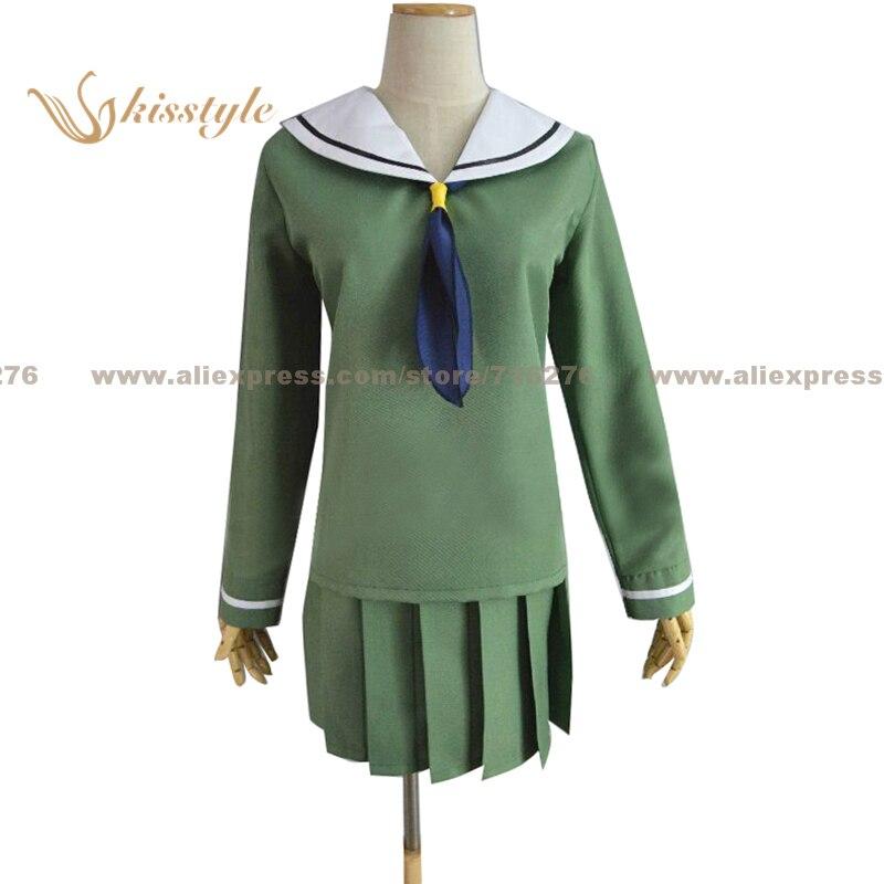 Kisstyle moda digimon aventura hikari yagami kari kamiya verde uniforme cos vestuário cosplay traje, personalizado aceitado