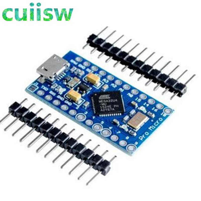 Pro Micro ATmega32U4 5V 16MHz reemplazar ATmega328 para arduino ATMega 32U4 Pro Mini con 2 hileras de pines