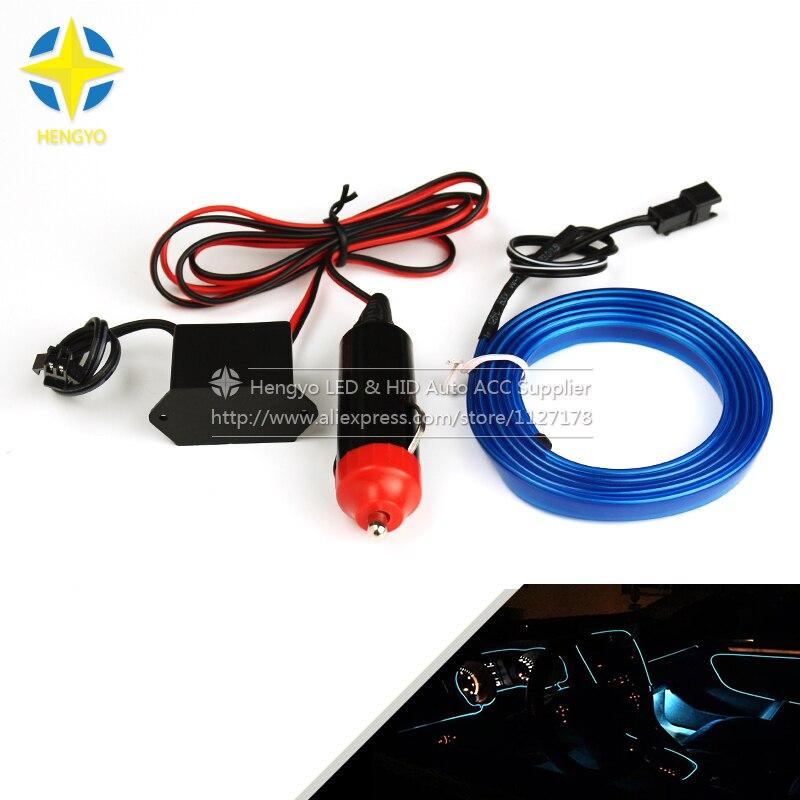 1M 3M 5M luz de neón Flexible 6mm EL tubo de cuerda de alambre fiesta y decoración del coche iluminación tira de neón LED con luz de cigarrillo
