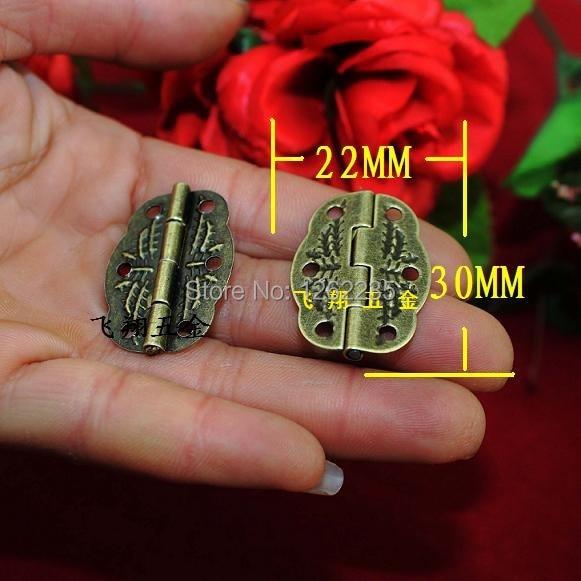 30 * 22MM  Antique Hinge  Small hinge metal printing  Wooden boxes hinge  6 small holes Hinge
