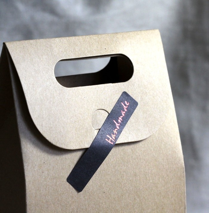 Envío Gratis, letras rojas y negras hechas a mano, sello adhesivo decorativo, pegatinas de embalaje para caja de dulces y postres