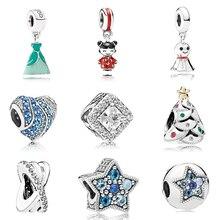 Dodocharm Fit Pandora Bracelet rose perle collier Original belle pendentif fille fleur cadeau couleur mode tendance bleu