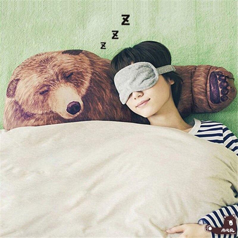 خاص مضحك الدب عناق وسادة لينة رمي وسادة الجسم عناق قابل للغسل صديقة السرير وسادة هدية الثمينة