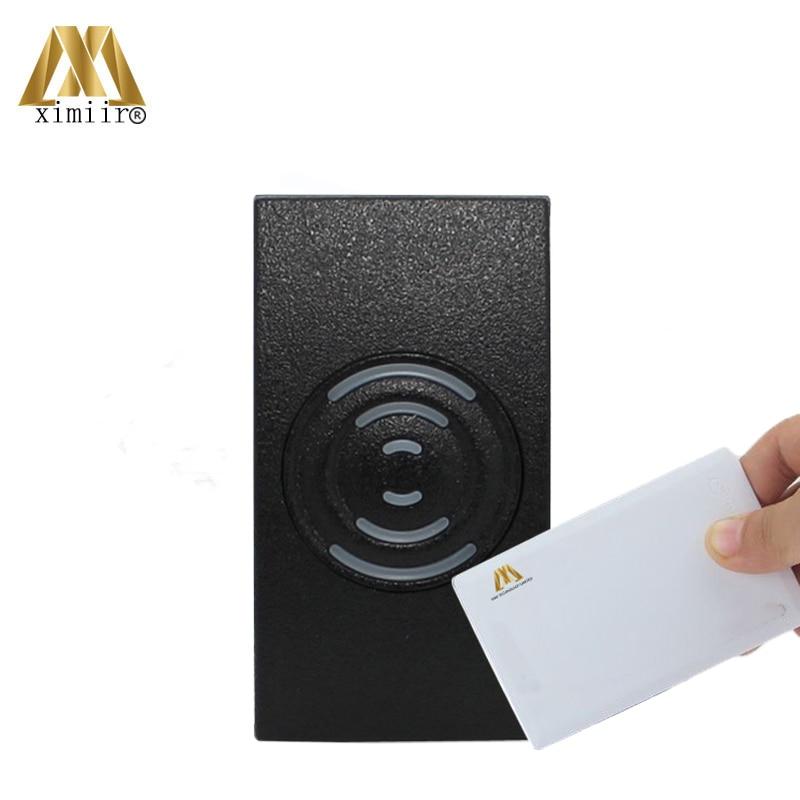 Lector de tarjetas de proximidad Wiegand 26/34 para sistema de Control de acceso 13,56 MHz Tarjeta de Identificación lector de tarjetas KR201 lector de acceso esclavo