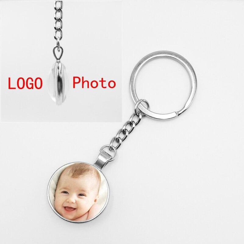 Llavero largo de doble cara 2019 hecho a mano personalizado foto familia bebé papá madre hermanos y hermanas retrato familiar llavero