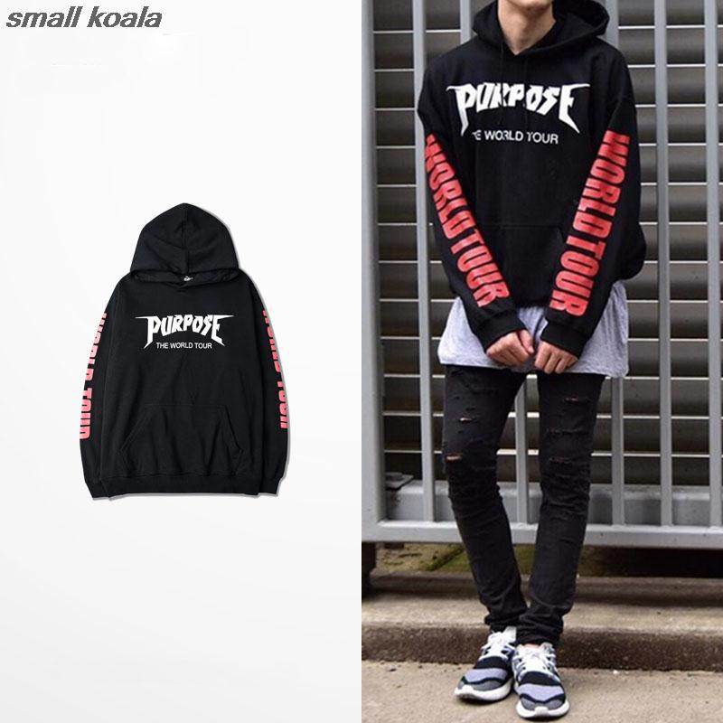 Purpose Tour Hoodies Men Justin Bieber Purpose Tour Hoodie Kanye Streetwear Brand Sweatshirts Men Swag Tyga Hoodie
