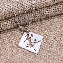 Instruments mortels ville dos collier en cuir corde chaîne collier amitié pendentif collier femmes hommes bijoux amant cadeau