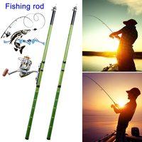 Portable Telescopic Hand Glass Steel Pole Carp Ultra-light Fishing Rod Fishing Pole Tackle Tool &T8