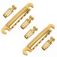 2 комплекта золотых стопов хвостовых якорей для сменный фиксатор для электрогитары