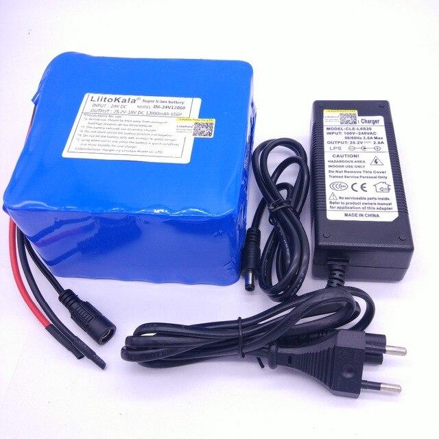 LiitoKala-batería DE litio DE 25,2 v para bicicleta, 6S6p, 24 v, 12ah,...