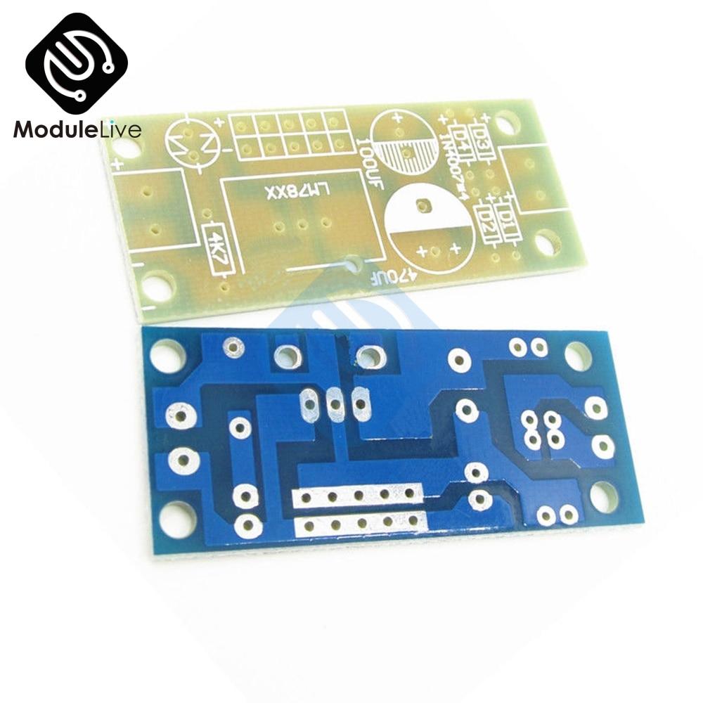 10PCS LM78XX LM7805 LM7812 L78XX PCB Fixed Voltage Regulator Prototype PCB Board Diy Kit Electronic Board Module