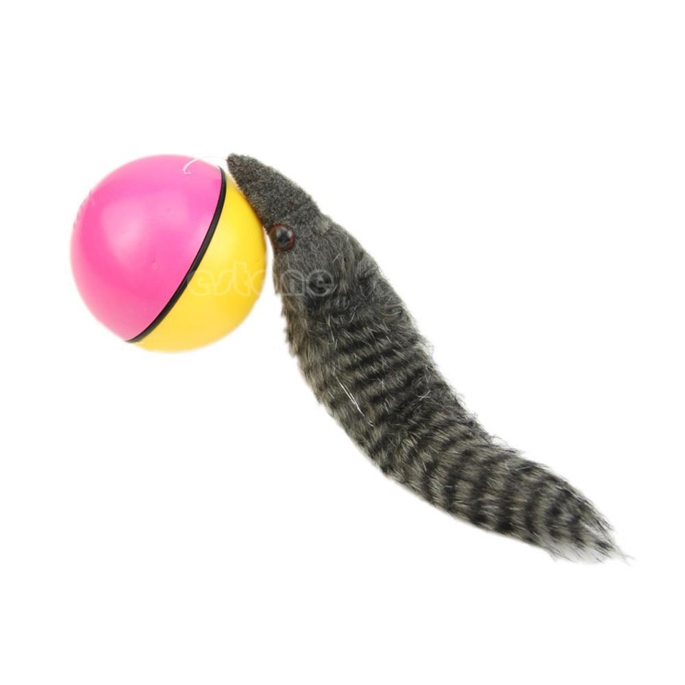 Beaver Weasel катящийся мотор мяч для питомца кошки собаки детей Chaser Jumping Fun Moving Toy
