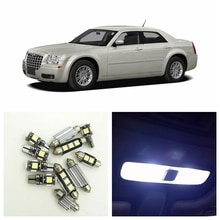 17Pcs Canbus White LED Lights Bulbs Interior Package Kit For 2005-2010 Chrysler 300 300C 300M Map Dome Trunk License Plate Light