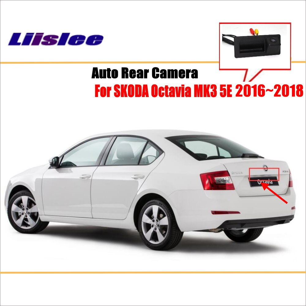 HD камера заднего вида для Skoda Octavia MK3 2015-2020 CCD резервная камера для Skoda Superb MK3 2015-2017 камера с ручкой багажника