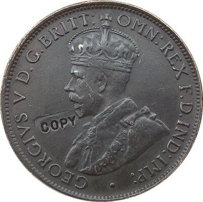 Réplica 1911-1923 13 Monedas Australia una copia de moneda de medio penique 100% coper