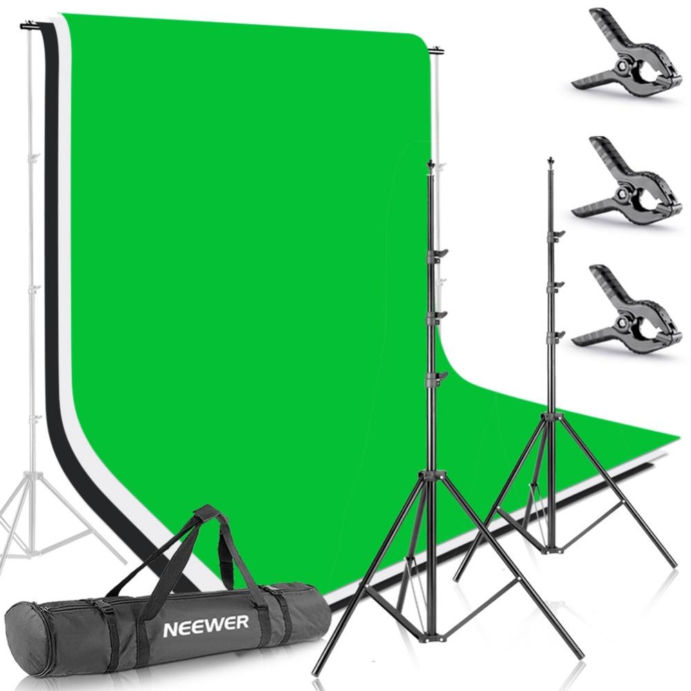 Neewer 8.5ft X 10ft фоновая подставка поддерживающая система с 6ft X 9ft фоном для портретной продукции фотографии и видеосъемки