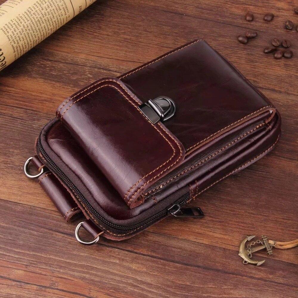 Bolso para ganchillo de cuero Vintage para iPhone, funda para cinturón, mochila, cartera, funda para teléfono, para Samsung note 9, Xiaomi mi 8