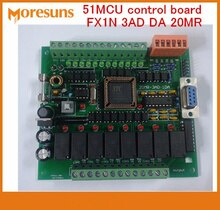 Carte de commande industrielle de PLC de bateau libre rapide 51MCU carte de commande FX1N 3AD DA 20MR contrôle Programmable
