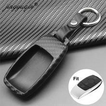 Jingyuqin couverture de clé de voiture en Silicone de carbone souple pour Mercedes Benz 2017 classe E W213 2018 S classe étui à clés sac protéger le style de voiture