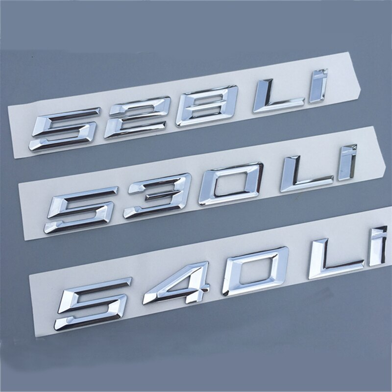 528Li 530Li 540Li números letras cromo emblema coche diseño trasero maletero Badge descarga pegatina para marcar para 2018 BMW 5280 530 540