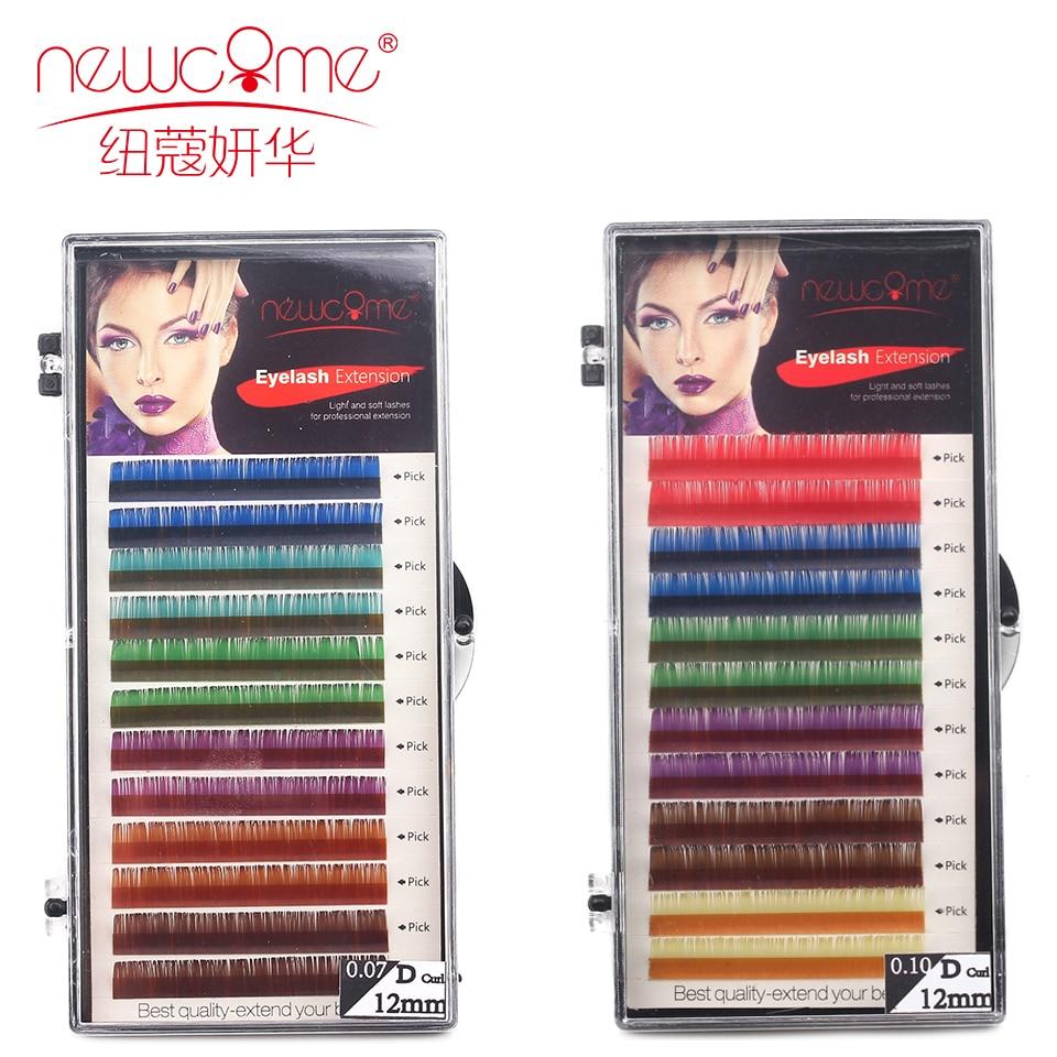 C/D 0,07/. 0,1 colores Corea seda volumen pestañas extensión 10/11/12mm 3D Natural largo Color pestañas