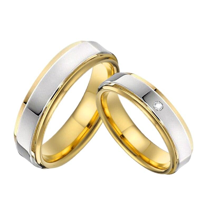 Conjunto de anillos de Boda Bicolor Love Alliance de titanio, conjunto de anillos de boda para hombre y mujer, regalo de aniversario de 4mm/5mm